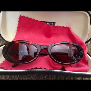 CHANEL Accessories - CHANEL Tortoise CC Monogram Sunglasses NWOT
